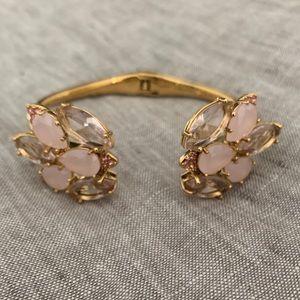 Kate Spade pink bloom open cuff bracelet